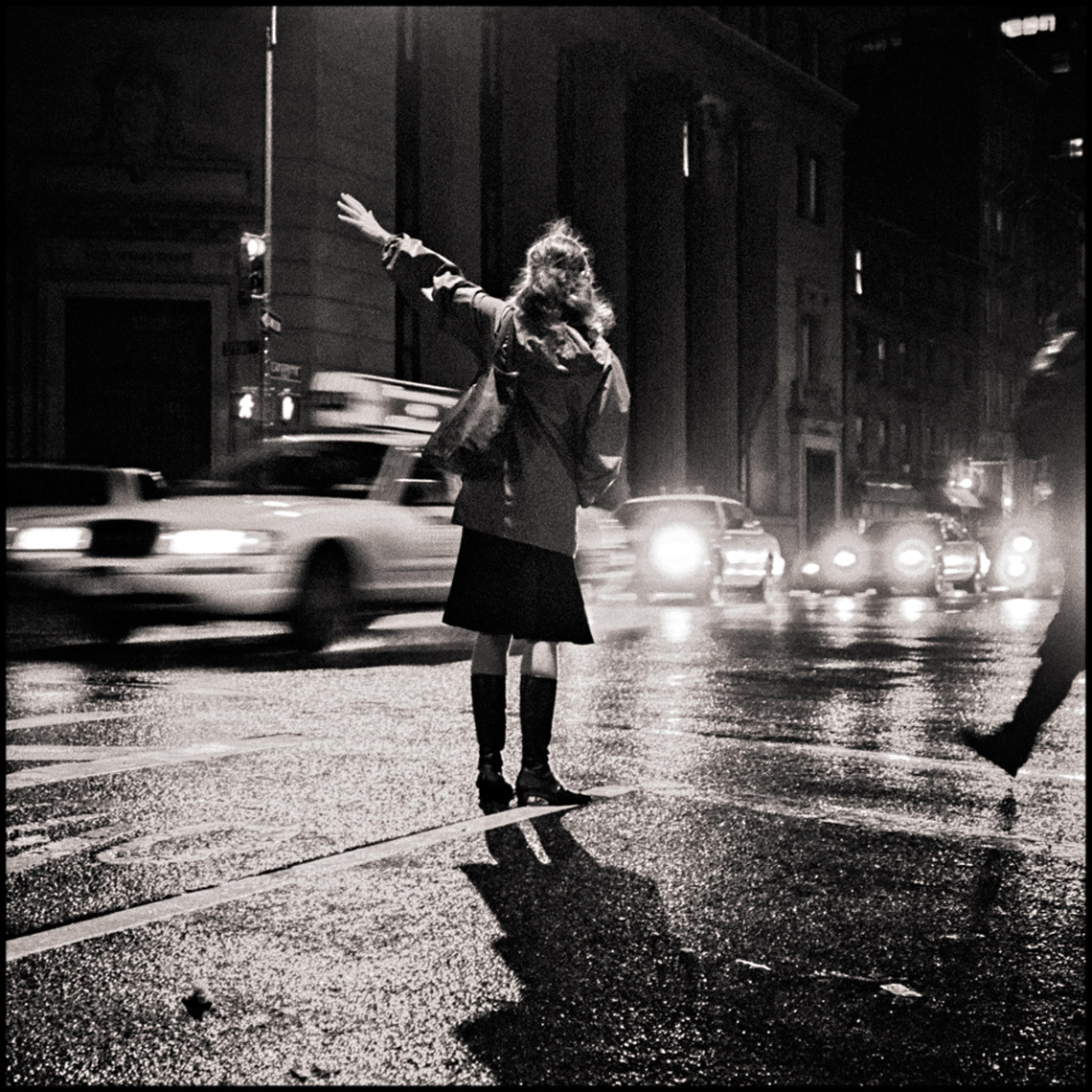 Sean Perry Photographs • Night Orator on Lafayette, from the series Gotham